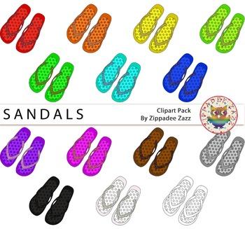 {50% OFF} Rainbow Glitter Sandals / Flip Flops and Line ar