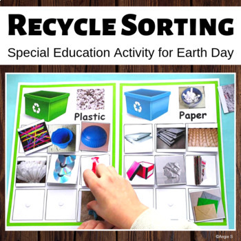Recycle Sorting Activity for Earth Day, Special Ed, Autism