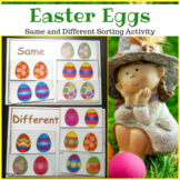 Same and Different Easter Activity  for Special Education