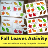 Same and Different- Fall Leaves