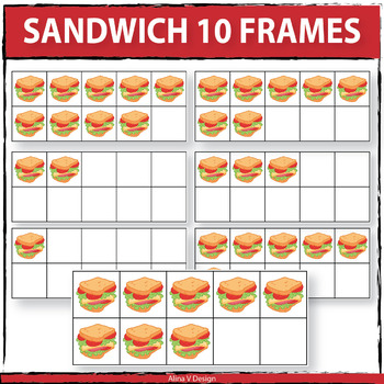 Sandwich 10 Frames Clipart