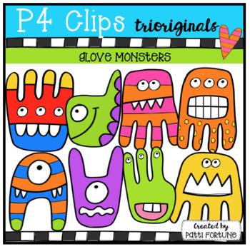 Sassy Glove Monsters (P4 Clips Trioriginals Clip Art)