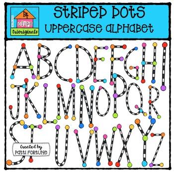 Stripe Alphabet Uppercase {P4 Clips Trioriginals Digital C