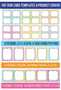 #betterthanchocolate 100 Task Card Templates