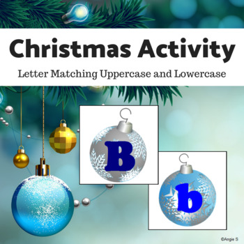 Upper Case & Lower Case Letter Matching Activity - Christm