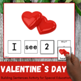 Valentine`s Day Build a Sentence for Speech Therapy