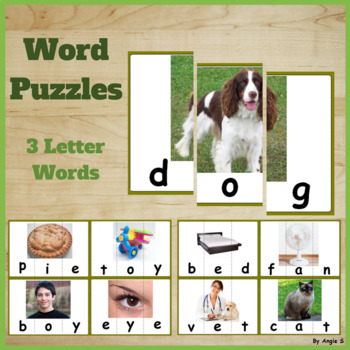 Word Puzzles- 3 Letter Words