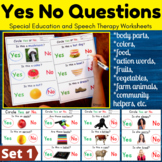 Yes/No Questions Bundle - Autism Worksheets