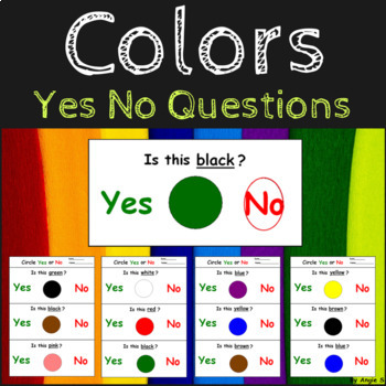 Yes/No Questions- Colors
