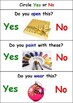 Yes/No Questions (Do You...) - Autism Worksheets