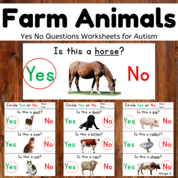 Yes/No Questions- Farm Animals