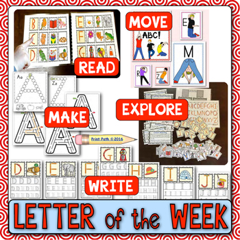 Letter of the Week Curriculum: PreSchool & K Readiness BUNDLE