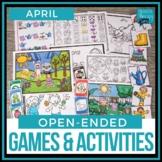 Open Ended Speech & Language Games - April