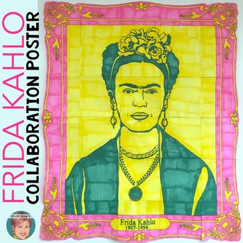 Frida Kahlo Collaborative Poster: Great for Hispanic Herit
