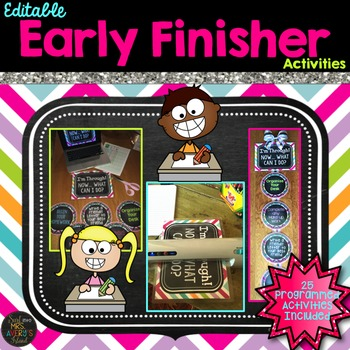 Early Finisher Activity Packet ~ EDITABLE