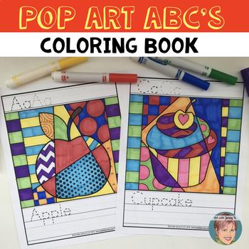 Alphabet Letters ABC Coloring Book: Pop Art Style