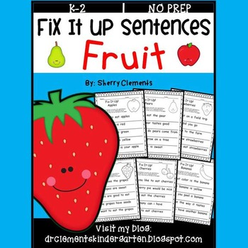Fruit Fix It Up Sentences