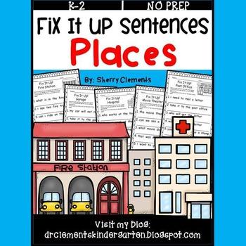 Places Fix It Up Sentences