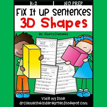 Shapes (3D) Fix It Up Sentences