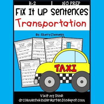 Transportation Fix It Up Sentences