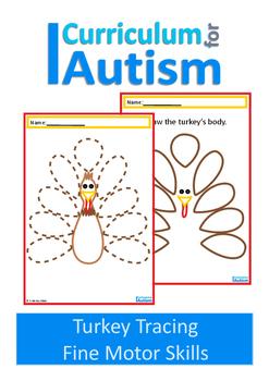 Thanksgiving Turkey Fine Motor Skills Drawing , Autism, Sp