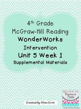 4th grade Reading WonderWorks Supplement- Unit 5 Week 1