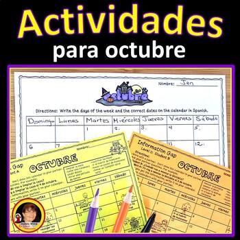Spanish Halloween/ October Activity Pack (Actividades para