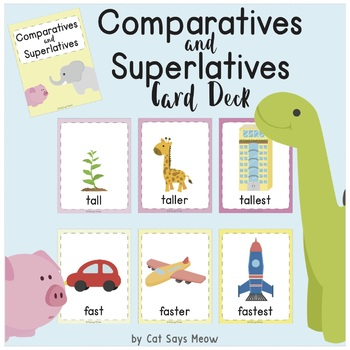 Comparatives and Superlatives Card Deck (Illustrated)