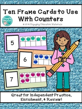 Ten Frame Cards to Use With Counters