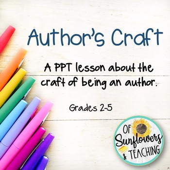 **50% off First Week!**Author's Craft PPT