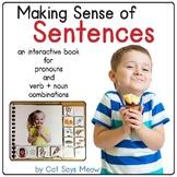 Making Sense of Sentences: Interactive Book (Pronouns, Nou