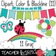 Seller's Kit: Rainbow Clipart * Papers * Buntings * Frames