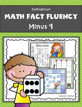 Subtraction Math Fact Fluency: Minus Nine