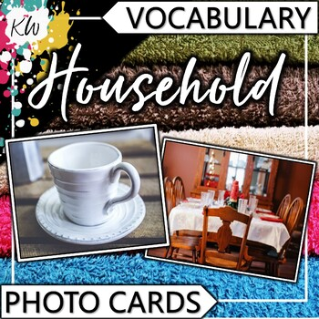 Household Vocabulary Photo Flashcards