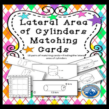 Lateral Area of Cylinders Matching Card Set