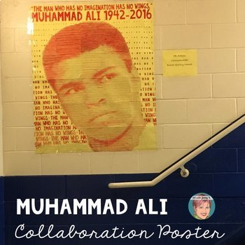 Muhammad Ali Collaboration Portrait Poster - Great Black H