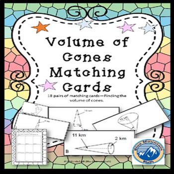 Volume of Cones Matching Card Set
