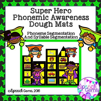 Phonemic Awareness Smash Mats Game: Phoneme and Syllable s