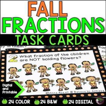 Fraction Task Cards (Parts of a Set- Fall Theme)