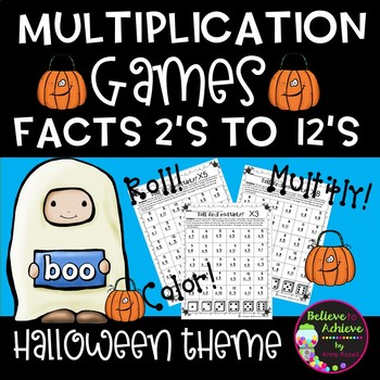 Multiplication Games (2's to 12's) Halloween Theme