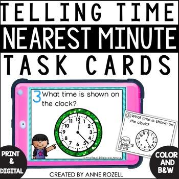 Telling Time - Nearest Minute