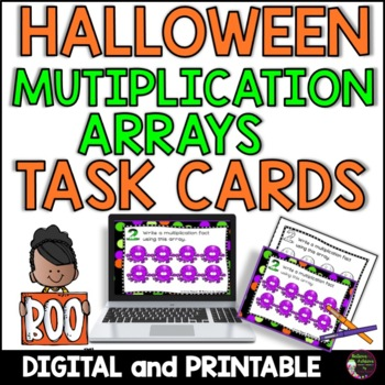 Multiplication Array Task Cards- Halloween Theme