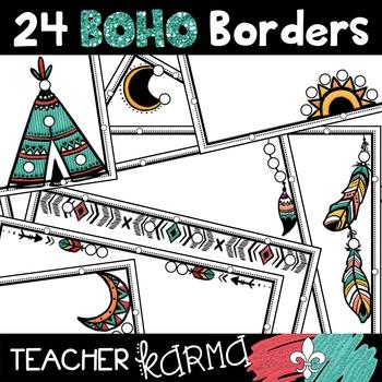 BOHO Borders Clipart * Native American