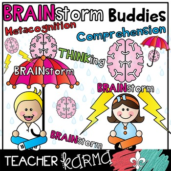 Brainstorming Buddies - Reading & Comprehension Kids Clipart