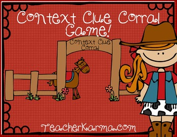 Context Clue Corral PPT GAME for Reading Comprehension ~  RTI
