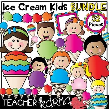 Ice Cream Kids * Seller's Kit * Clipart BUNDLE