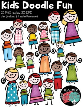 Kids Doodle Fun Clipart ~ Commercial Use OK ~ Students