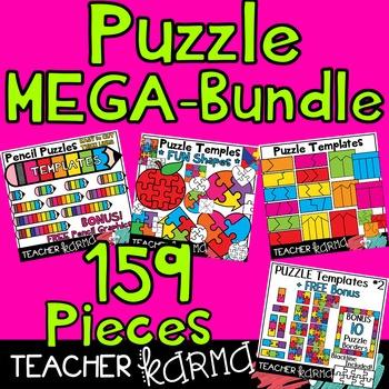 Puzzle MEGA-BUNDLE Templates - 159 Graphics