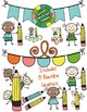 Seller's Kit PENCIL PALS Clipart~ Commercial Use OK ~ Students