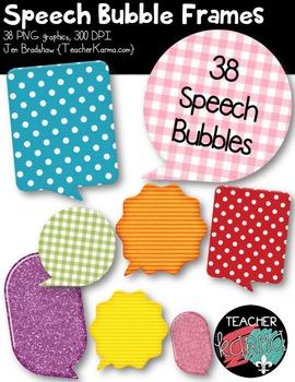Speech Bubble Frames BUNDLE Clipart ~ Commercial Use OK
